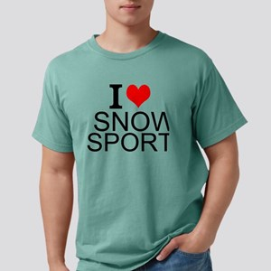 I Love Snow Sports Mens Comfort Colors Shirt