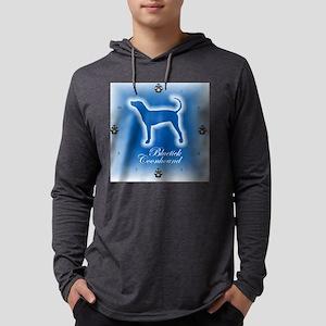 Bluetick Coonhound Mens Hooded Shirt