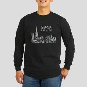 bw nyc sketch for t Long Sleeve T-Shirt