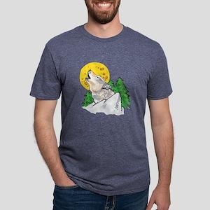 WOLF SCENE Mens Tri-blend T-Shirt