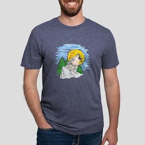 WOLF MOUNTAIN SCENE Mens Tri-blend T-Shirt