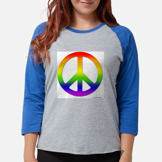 peace-big-rainbow.bmp Womens Baseball Tee