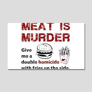 Meat is murder Car Magnet 20 x 12