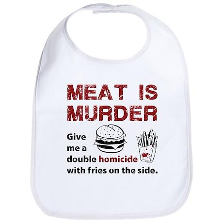 Meat is murder Bib
