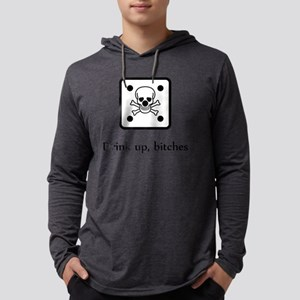 SHIRT_drink_bitches_die_skull_bl Mens Hooded Shirt