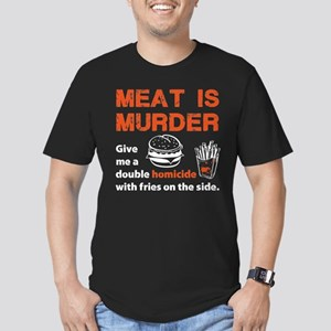 Meat is murder Men's Fitted T-Shirt (dark)