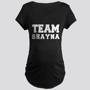 TEAM SHAYNA Maternity Dark T-Shirt
