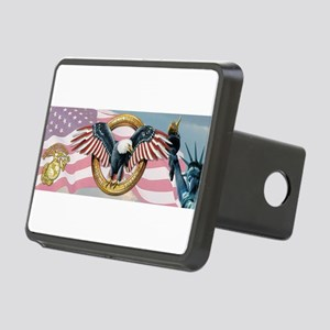 Semper Fi American Patriot Rectangular Hitch Cover
