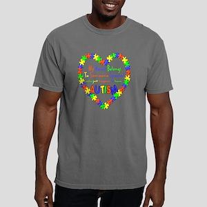 heart-autism Mens Comfort Colors Shirt