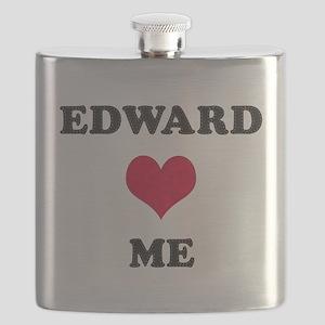 Edward Loves Me Flask