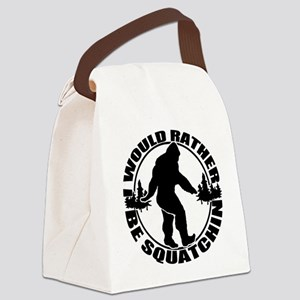 Rather be Squatchin Canvas Lunch Bag