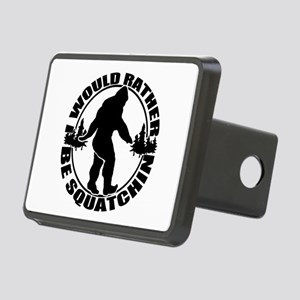 Rather be Squatchin Rectangular Hitch Cover