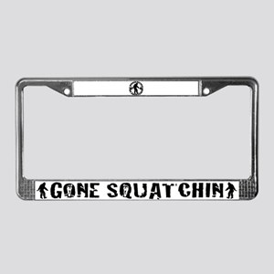 Rather be Squatchin License Plate Frame