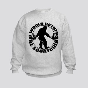 Rather be Squatchin Kids Sweatshirt