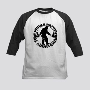 Rather be Squatchin Kids Baseball Jersey