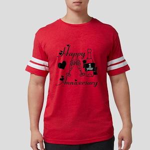 Anniversary black and white 1  Mens Football Shirt