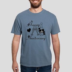 Anniversary black and wh Mens Comfort Colors Shirt