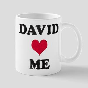 David Loves Me Mug