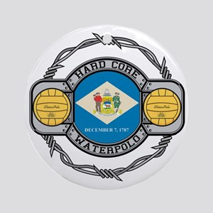 Delaware Water Polo Ornament (Round)