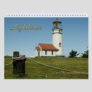Wilde NW Lighthouses Wall Calendar