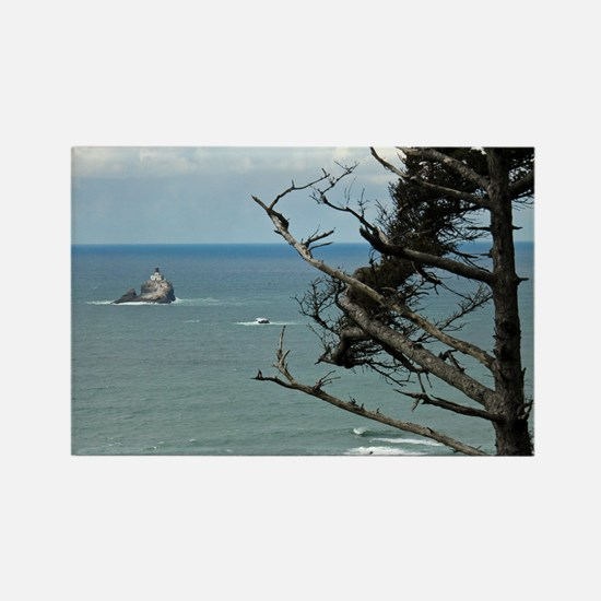 Tillamook Rock Lighthouse Rectangle Magnet