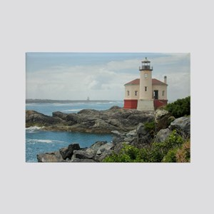 Coquille River Lighthouse Rectangle Magnet