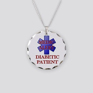 Medic Alert Diabetic Patient Necklace Circle Charm