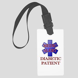 Medic Alert Diabetic Patient Large Luggage Tag