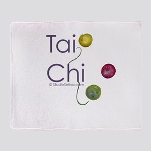 Tai Chi Flow Throw Blanket