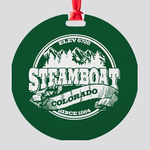Steamboat Old Circle Round Ornament