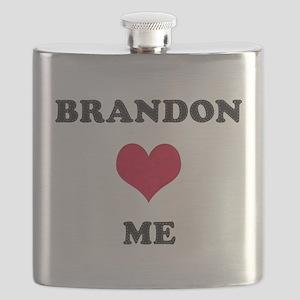 Brandon Loves Me Flask
