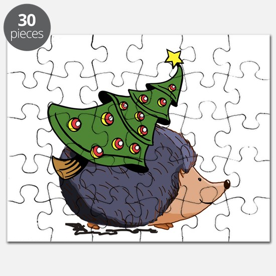 Hedgehog with Christmas Tree Puzzle
