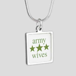 Army Wives Silver Square Necklace