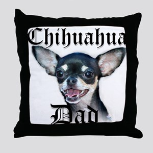 Chihuahua Dad Throw Pillow