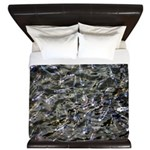 Shad in Fall Colors King Duvet