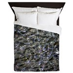 Shad in Fall Colors Queen Duvet