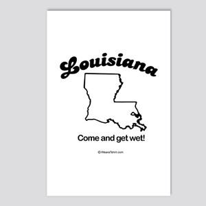 LOUISIANA: Come and get wet Postcards (Package of