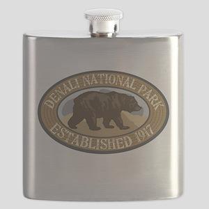 Denali Brown Bear Badge Flask