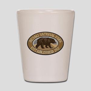 Denali Brown Bear Badge Shot Glass