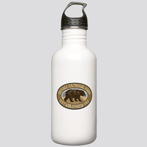 Denali Brown Bear Badge Stainless Water Bottle 1.0