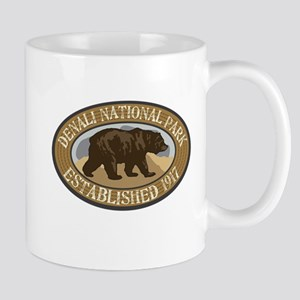 Denali Brown Bear Badge Mug