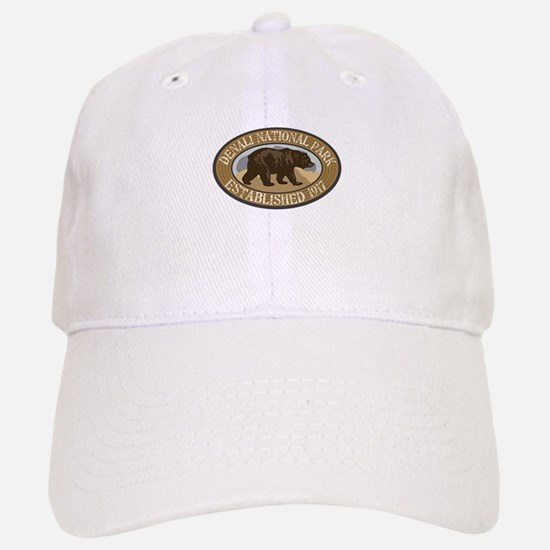 Denali Brown Bear Badge Baseball Baseball Cap