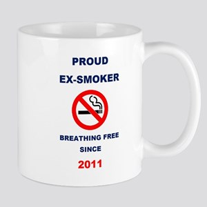 Proud Ex-Smoker - Breathing Free Since 2011 Mug