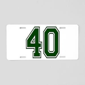 green40 Aluminum License Plate
