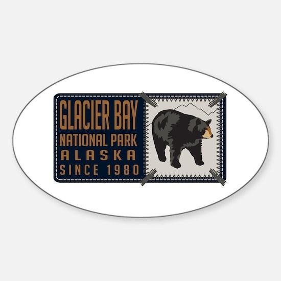 Glacier Bay Black Bear Badge Sticker (Oval)