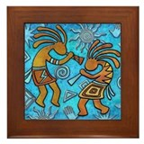 Southwest kokopelli Framed Tiles