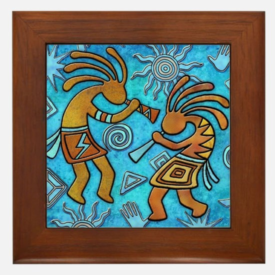 Best Seller Kokopelli Framed Tile