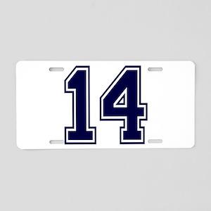 blue14 Aluminum License Plate