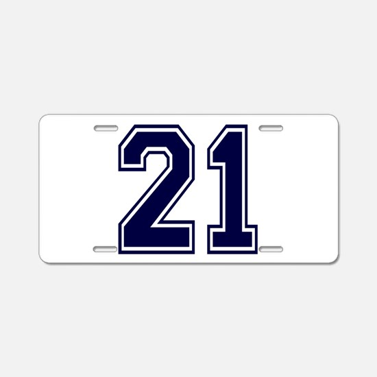 blue21.png Aluminum License Plate