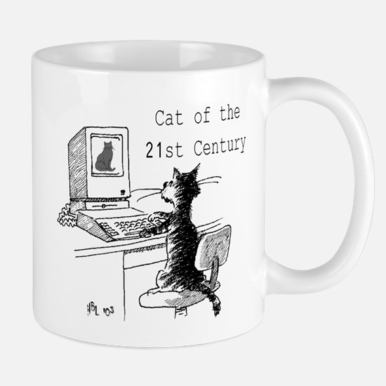 21st Cent cat Mugs